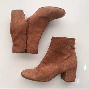 Halogen Cori Suede Block Heel Ankle Boots
